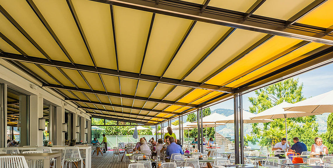Gastro & industry - Pergola - Rivera P5000 | Sun Protection and Weather Protection with STOBAG