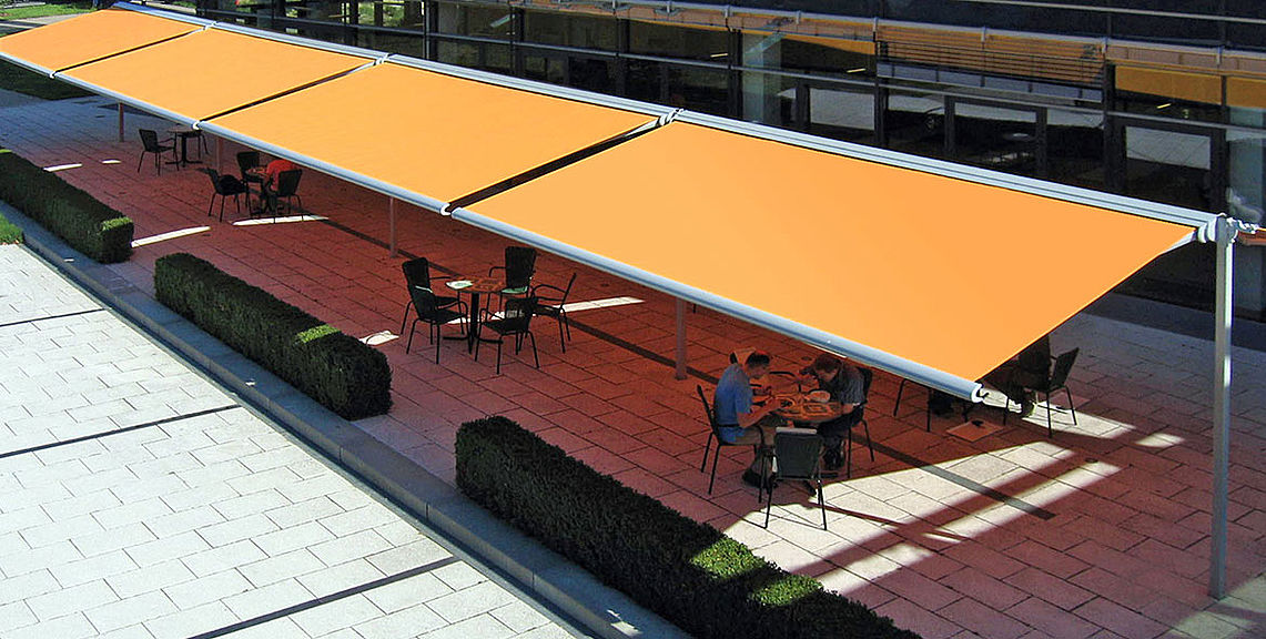 Gastro & industry - Freestanding double awnings - BOXMOBIL OS7000 | Sun Protection and Weather Protection with STOBAG