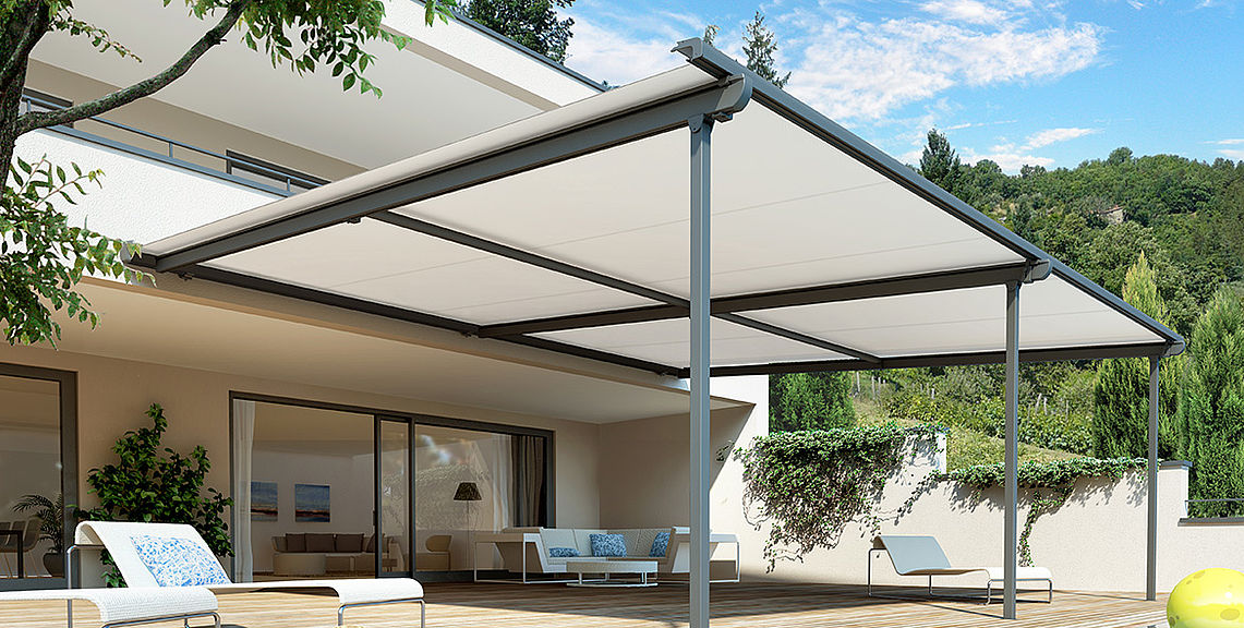 Pergola & terrace awnings - PERGOLINO P3500 | Sun Protection and Weather Protection with STOBAG
