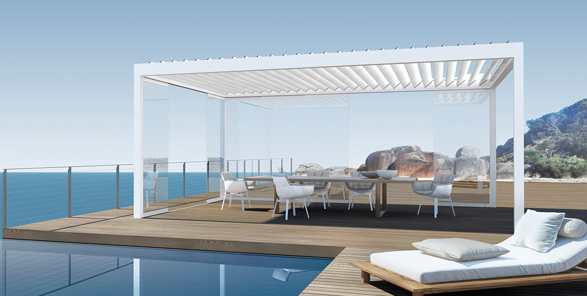 Pavilion - BAVONA Hardtop TP6500 - Modern weather protection | Sun Protection and Weather Protection with STOBAG