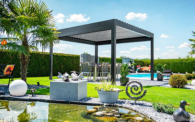 Pavilion – BAVONA TP6500 Hardtop | Sun Protection and Weather Protection with STOBAG