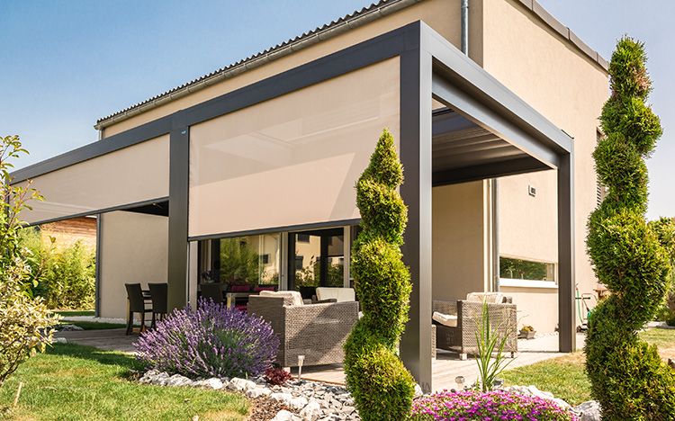 Pergola & terrace awnings - MELANO TP7100 | Sun Protection and Weather Protection with STOBAG