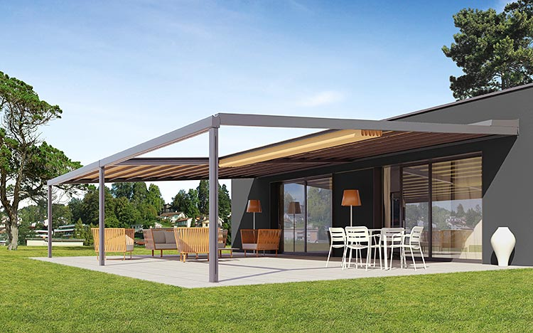 Pergola & terrace awnings - RIVERA P5000 | Sun Protection and Weather Protection with STOBAG