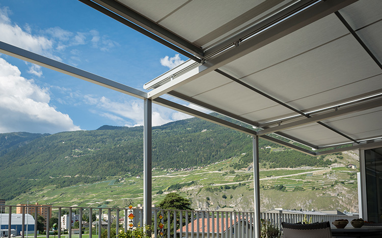 Conservatory shadings - AIROMATIC PS4000 | Sun Protection and Weather Protection with STOBAG